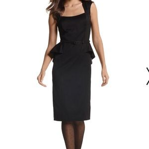 White House Black Market Peplum Dress